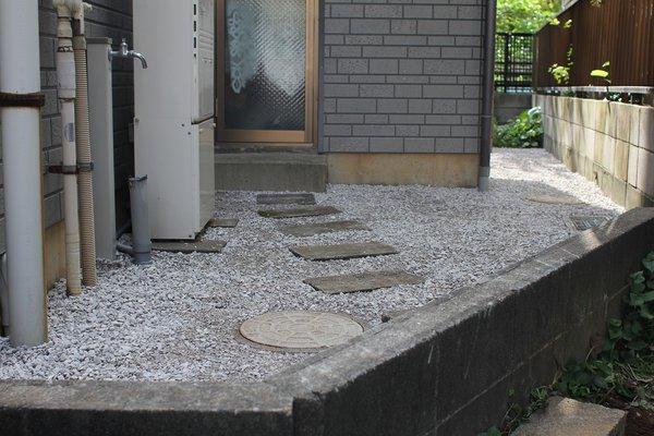 【川崎市中原区】雑草対策工事(防草シート+砂利敷き)